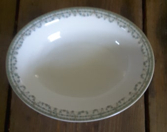 Vintage  Haviland Limoges France Oval Serving Bowl Chas C Cullen Co. Knoxville Th Floral Cottage Style