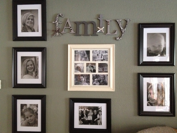 Wood Letters Family Sign Black And Cream Living Room Decorrhetsy: Wall Letters For Living Room At Home Improvement Advice