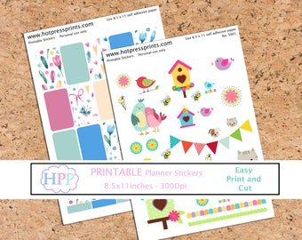 Printable stickers Planner stickers Scrapbooking Printable planner stickers Happy Planner Erin Condren Instant Download file