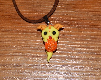 Yellow Ghost Monster Necklace