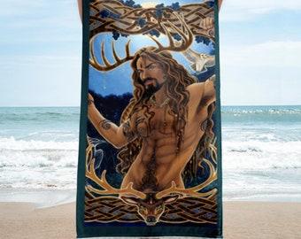 Cernunnos Herne Horned God Towel