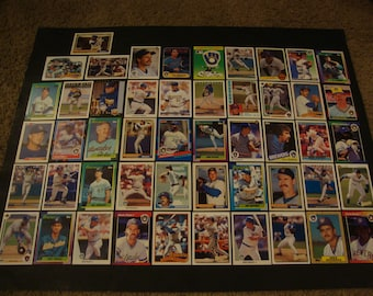SALE -Vintage Team Lot of Milwaukee Brewers Greats Baseball Cards - Hall of Fame/Star Lot - Molitor, Yount, Sheffield, Randolph, Garner,etc.