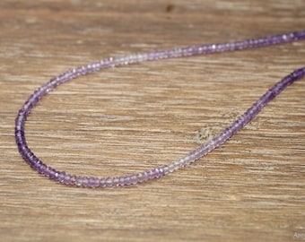 Shaded Amethyst Necklace, Hill Tribe Beads, Ombre, Amethyst Jewelry, February Birthstone