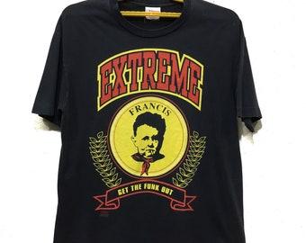 Vintage 90s EXTREME get funk out tour band T-shirt black colour
