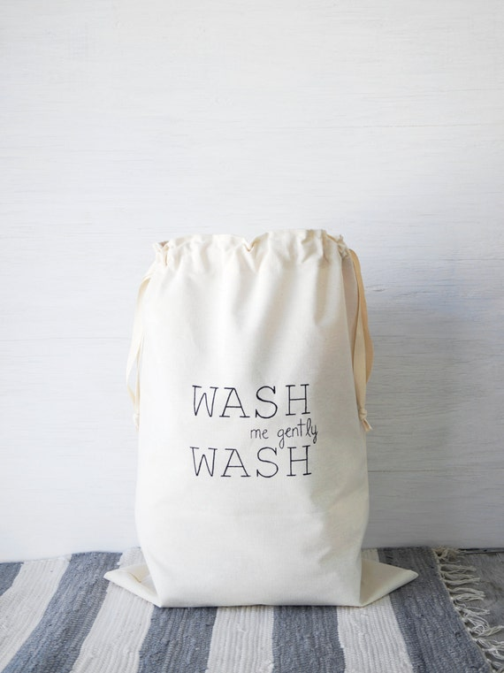 Popular Items similar to Large natural canvas laundry bag WASH. Cloth  KX66