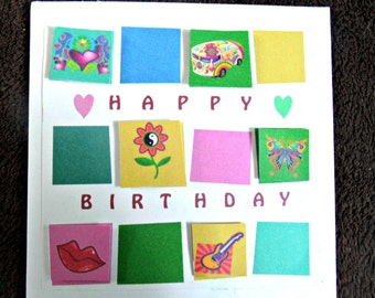 Bold and Colourful Birthday card