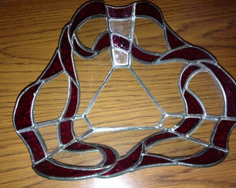 Multi-Sided Handmade Stained Glass Bowl