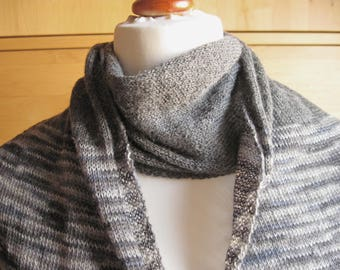 Lace scarf Alpaca, lace Schaltuch, stole, knitting cloth, knitted scarf, knitted stole, Heather grey, alpaca