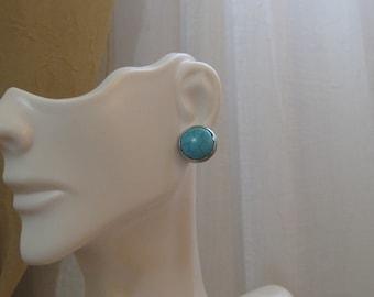 Turquoise post earrings, turquoise stud earrings, Native American earrings