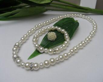 Flowergirl Jewelry Set, flowergirl necklace, flowergirl bracelet, flowergirl ring, flowerigrl necklace set