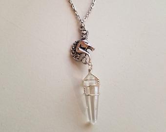 SALE! Little Witch - Unicorn Quartz Charm Necklace