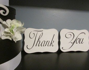 Wedding Thank You Signs, Wedding Photo Props, Thank You signs, wooden Thank You signs