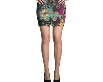 MICROCOSMOS Dark Organic Culture Devarshy Spandex Mini Skirt PF - 9999A
