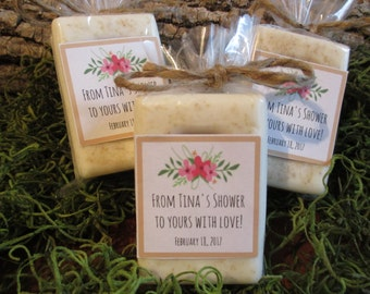 Rustic Bridal Shower Favors Soap Rustic Floral Bridal Shower Soap Favors Organic Soap Bridal Shower Favor Soap Bridal Soap Favor Rustic Soap