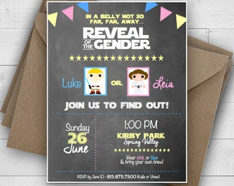 Star Wars Gender Reveal Invitation