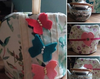 Butterfly tea pot cosy