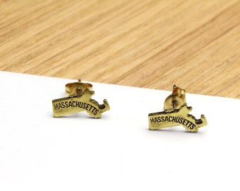Massachusetts State Stud Earrings Small MA Stud Earrings