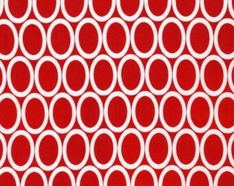 Red Oval Circle  Cotton Fabric -Remix -  Robert Kaufman Fabrics