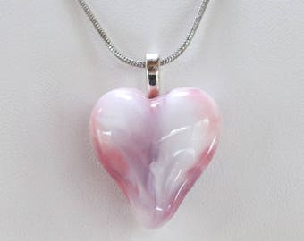 Heart Lampwork Glass Pendant Valentine