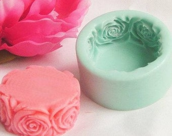 Rose Round Silicone Mold Silicone Mould Candy Mold Chocolate Mold Soap Mold Polymer Clay Mold Resin Mold R0140