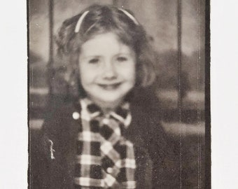 Original Vintage Photobooth Photograph | Pretty in Plaid