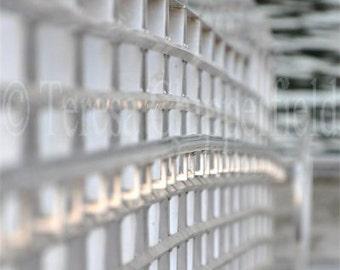 Stainless Steel Bridge Print, Fine Art Photography,Walkway to Water, Fine Art Photo, SOOC, Rippling Water, Urban Home Wall Art Decor, 16x24