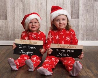 Dear Santa Chalkboard Sign Christmas Photo Prop Sign