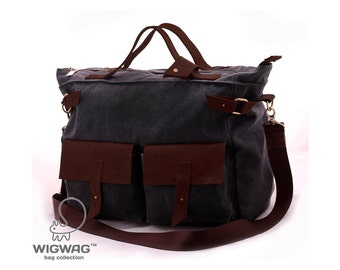 Men's canvas leather bag, canvas men's bag, messenger bag, men's tablet bag, crossbody canvas bag, messenger bag, men shoulder bag, men bag