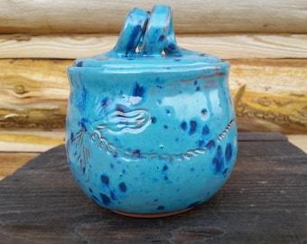 Dragonfly Honey Pot, Pottery Honey Jar, Ceramic Honey Pot, Fresh Honey, Honey Keeper, Dragonfly, Spiral, Honey, Kitchen Canister