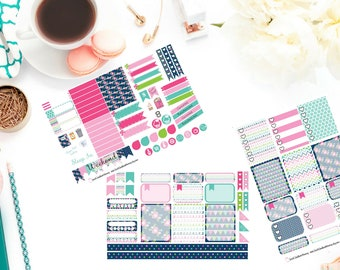 WEEKLY Floral Cheer Sticker Kit