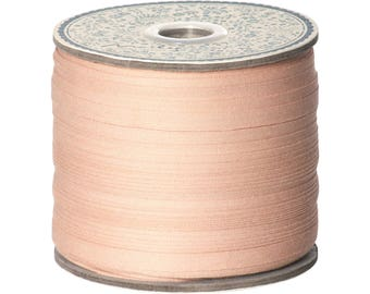 Pink cotton Ribbon, 200 meter spool