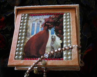 Greyhound jewelry casket box