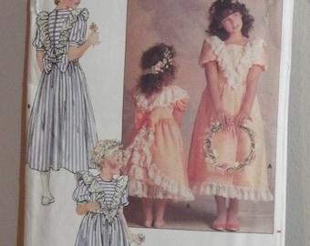 Vintage 1980s Butterick 4768 Girls Fancy Dress size 4 Pattern