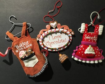3 Christmas Ornaments Colorful