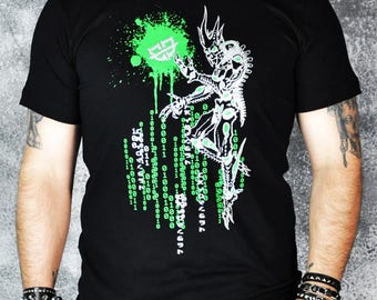 Cryoflesh Cryofiend Binary Code Cybergoth Cyberpunk Shirt