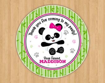 Cute Panda Bear Party Favor Tags