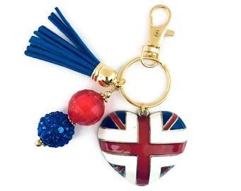 Union Jack Key Chain/British Flag Key Chain/London Key Chain/Great Britain Gift/London Gift/Union Jack Gift/UK Key Chain/UK Gift
