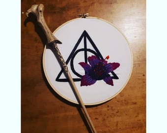 Harry Potter Deathly Hallows Embroidery