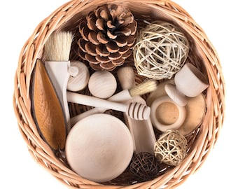 Treasure Basket - Wooden Themed