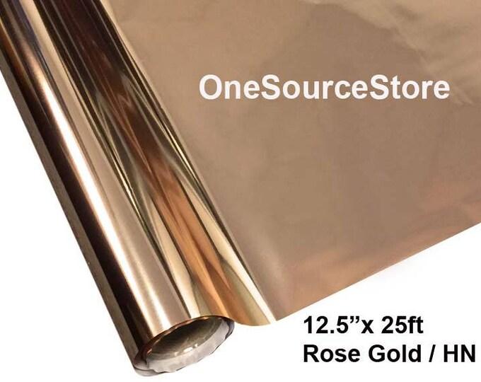 """HTV Textile Foil* / 12.5 """"x 25 ft / Rose Gold / HN"""