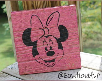 Minnie Mouse nursery sign, Minnie Mouse wall art, Minnie Mouse nursery decor, Minnie Mouse decor, Minnie Mouse nursery, kid room art, sign