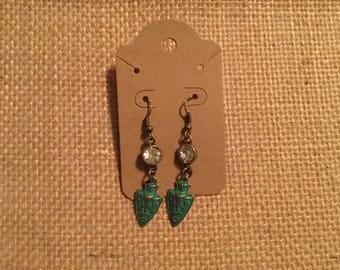 Arrowhead gemstone earrings