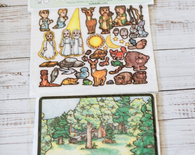 Joseph's First Vision 10 in - story picture pocket, felt boards, felt pieces, girls and boys, quite toy, church toy, car toy, flannel board