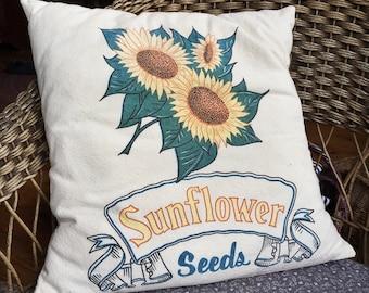 Vintage Seed Sack Pillow