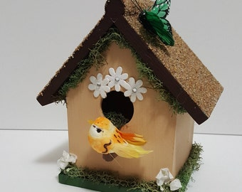 Hand Painted, Hand Decorated Birdhouse
