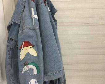 Spirited Away handmade painted jacket