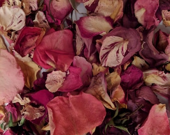 dried rose flower petals