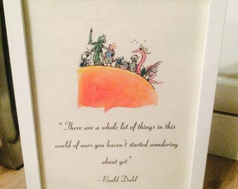 James & The Giant Peach Roald Dahl Vintage Style A4 Quote Print Art Unframed Ideal Gift Nursery Birthday Christening