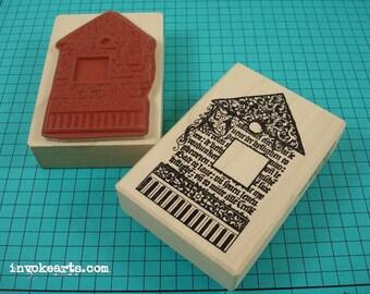 Script House Stamp / Invoke Arts Collage Rubber Stamps