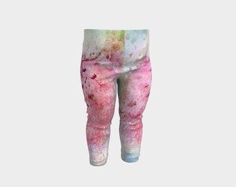Pink Baby Leggings Newborn Girl Baby Shower Gift Infant Baby Girl Pants Soft Toddler Legging Baby Tights Wearable Art New Mom Gift Colorful